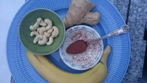 Anti-stress dryck med banan och cashew