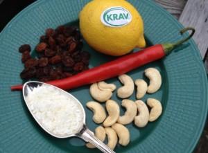Raw Food-godis med russin