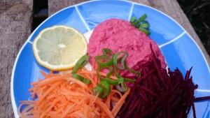 Hummus med rödbetor